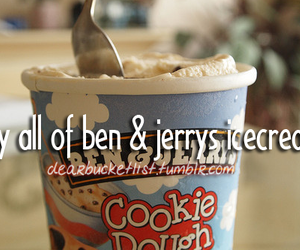 before i die, cold, and icecream image