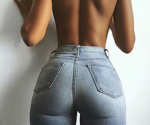 ass, jeans, and tight image