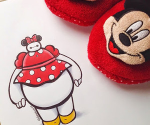 baymax, disney, and minnie image