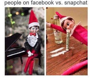 snapchat, facebook, and funny image