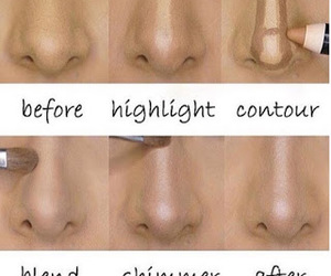 contour, girl, and love image