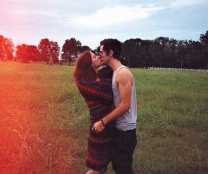 couple, kiss, and boy image