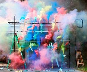 color, colorful, and smoke image