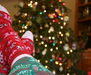 christmas, socks, and tree image