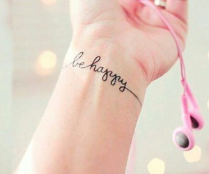 tattoo, be happy, and happy image