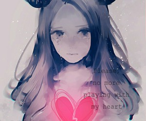 heart, sad, and anime image