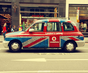advertising, cab, and colors image