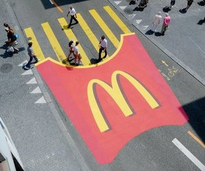 McDonalds, street, and food image