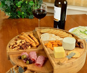 charcuterie board and round cheese board image