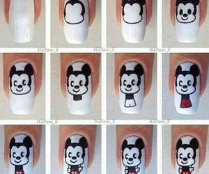 nails, mickey, and mickey mouse image