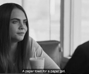 black and white, cara delevingne, and paper girl image