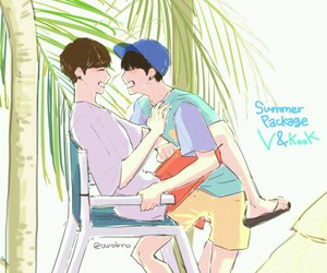 fanart, vkook, and taekook image