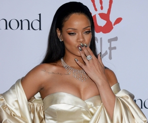 rihanna, dress, and riri image