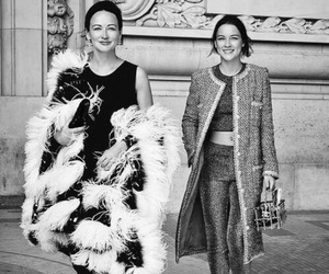 chanel, fur, and coat image