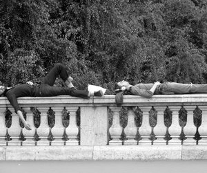 black and white, boy, and paris image