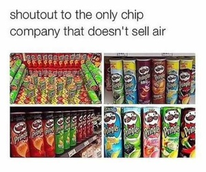 chips, pringles, and funny image