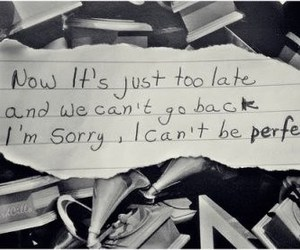 perfect, quote, and sorry image