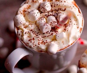 marshmallow, winter, and food image