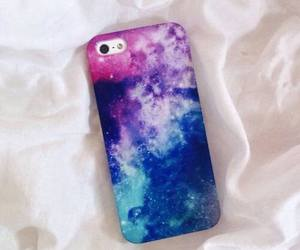 galaxy, blue, and case image