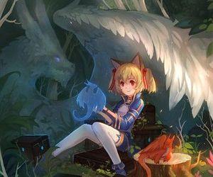 sword art online, anime, and dragon image