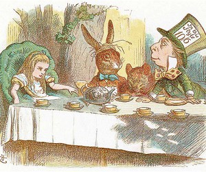 alice, alice in wonderland, and tea image