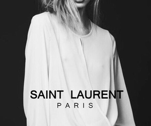 fashion, model, and saint laurent image
