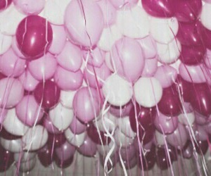 balloons, pink, and header image