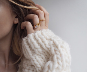 fashion, rings, and sweater image