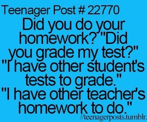 funny, teacher, and homework image