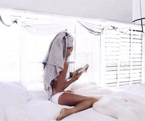 white, bed, and summer image