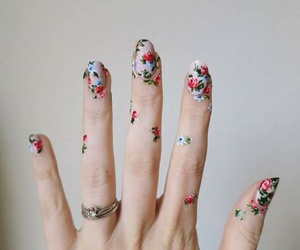 classic, flowers, and nail polish image