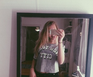 blond girl, hair, and home image