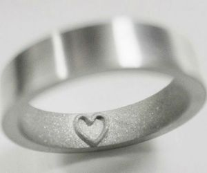 ring, heart, and silver image