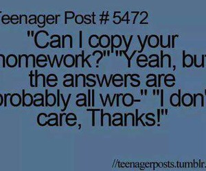 homework, teenager post, and funny image