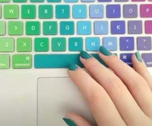 colors, keyboard, and nails image