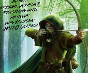arrow, forest, and quote image