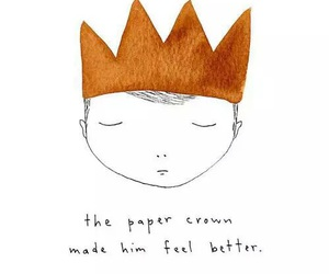 crown, art, and boy image