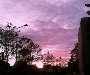 grunge, pink, and sky image