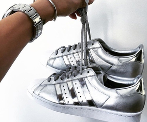 adidas, shoes, and silver image