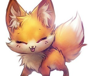 fox, kawaii, and animal image