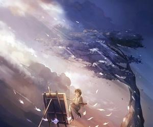 anime, tree, and art image