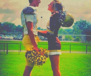 love, couple, and cheerleader image