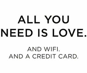 love, wifi, and quote image