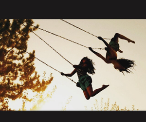 friends, swing, and summer image