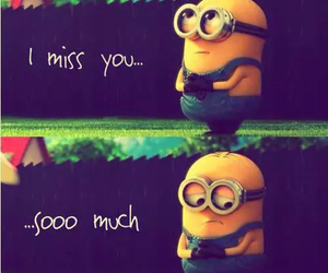 minions and miss you image
