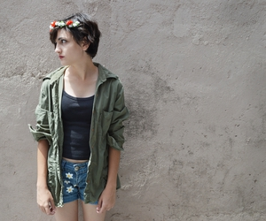 fashion, flower crown, and girl image