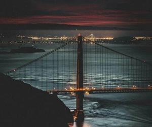 bridge, city, and light image