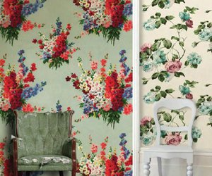 chairs, floral, and shabby chic image