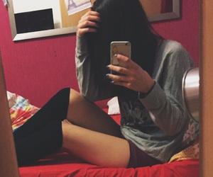boxershorts, iphone, and knee socks image