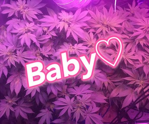 baby, heart, and purple image
